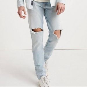 Lucky Brand Distressed Skinny Jeans, Mens 28/32